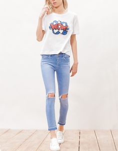 Denim 7/8 front yoke - JEANS - FEMME | Stradivarius France