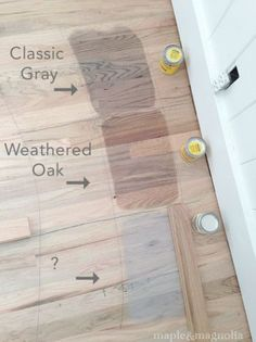 Restoration Hardware Finish Pickled Oakopremixed Grey Stain With