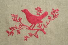 Straight from one of my favorite places to buy from in Hanoi. These organic, natural linen hand towels are hand-embroidered with a bird perched on a delicate branch. The perfect host or hostess gift!
