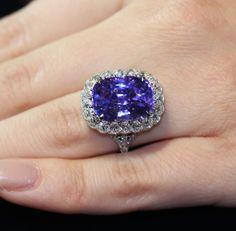 Purple sapphire ring by Leon Mege
