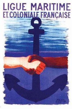 Ligue Maritime et Coloniale Française - illustration de Paul Colin -