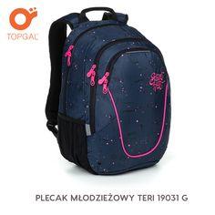 Dwukomorowy plecak Topgal w sportowym designie do szkoły i nie tylko.