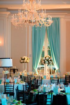 Blue drapes by Event Drapery