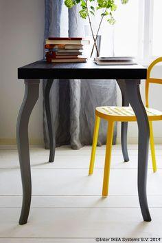 Un birou care dansează :)    LINNMON/LALLE Masă, negru 329,99 lei
