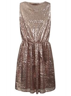 Copper Sequin Party Dress $32.46