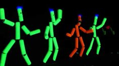 """From TLE the Toobies, Stretch-a-Bellies, and some saxophone playing lips come together to shake what they have in this blacklight version of """"Shake."""