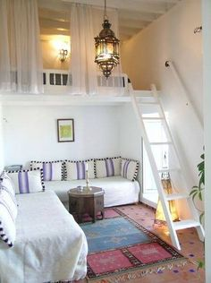 Moroccan style room with loft. I have so much unused space.... Maybe I could do this