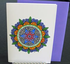 "Blank Art Card - ""I am here""  - 5 x 7 - Mandala Art - Sympathy - Support - Grief - Comfort - Blank Note by CreateThriveGrow on Etsy https://www.etsy.com/listing/262970607/blank-art-card-i-am-here-5-x-7-mandala"