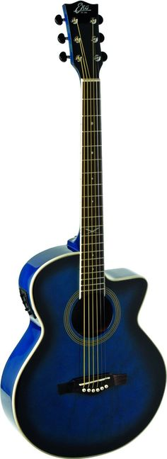 EKO Guitars 06217022 NXT Series Auditorium Cutaway Acoustic-Electric Guitar - Blue Sunburst