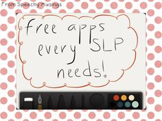 Must Have FREE Apps for Every SLP or SLP Graduate Student -- Speechy Musings Follow all our boards at pinterest.com/linguahealth for our latest therapy pins and visit linguahealth.com for even more resources!