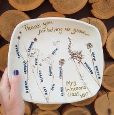 School Class Names Personalised Ceramic Bowl Teacher Cards, Hand Engraving, Ceramic Bowls, Craft Ideas, Names, Ceramics, School, Tableware, Handmade