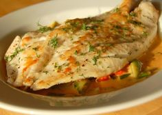 John Dory with Tomato Cream Sauce ... I fell in love with John Dory in Sydney. Such an amazing fish!