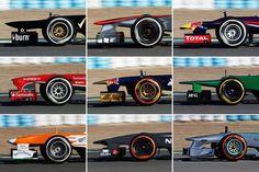 Formula one noses 2013