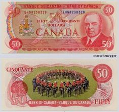 Mounties on the old Canadian 50 dollar bill the most beautiful bank note ever minted Canadian Things, I Am Canadian, Canadian History, Old Coins, Rare Coins, Tom Holland, Money Notes, Bitcoin Business, Rich Money