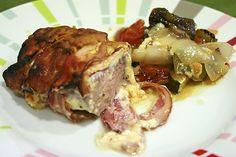 #Receta de solomillo al horno, con bacon, queso y verduras y salsa especial. No has probado nada igual!