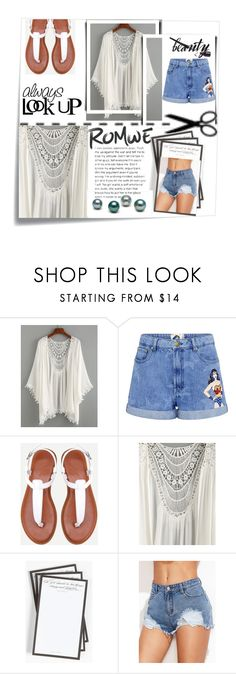 """""""#Romwe"""" by nina11-2 ❤ liked on Polyvore featuring Post-It, Paul & Joe Sister and Ben's Garden"""
