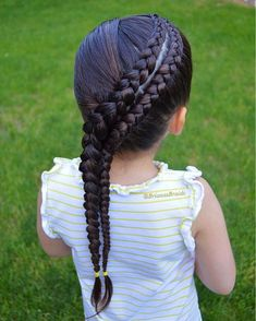 75 Awesome Box Braids Hairstyles You Simply Must Try - Hairstyles Trends Little Girl Braid Hairstyles, Little Girl Braids, Baby Girl Hairstyles, Braids For Kids, Girls Braids, Trendy Hairstyles, Braided Hairstyles, Gorgeous Hairstyles, Hairstyle Braid