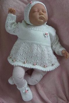 Free Knitting, Baby Knitting, Knitting Patterns, Knitting Projects, Kids And Parenting, Baby Items, Dress Skirt, Doll Clothes, Little Girls