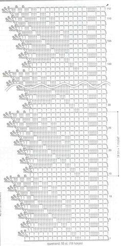 Crochet edging chart pattern