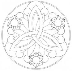 Easy Mandala Coloring Pages #1