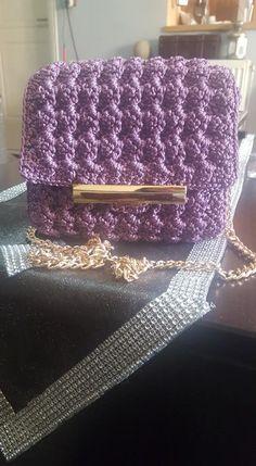 A little Crochet Bag Handmade Bags, Crochet, Handmade Handbags, Ganchillo, Crocheting, Knits, Chrochet, Homemade Bags, Quilts