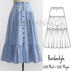 38 Ideas For Sewing Skirts Long Wardrobes Tunic Sewing Patterns, Dress Patterns, Sewing Clothes, Diy Clothes, Skirt Outfits, Dress Skirt, Modest Fashion, Fashion Dresses, Fashion Sewing