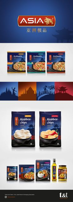 Asia - Packaging Design It was a challenge to redesign one of ALDI's most recognisable, promotional brands, the ASIA range. We needed to preserve the iconic brand colours to ensure consumer recognition, but with a modern twist. The illustrations used depicted different regions in Asia and showcased the heritage of the dishes.  The concept was rolled out across a large product range and we were subsequently asked to create additional designs for the Indian cuisine.