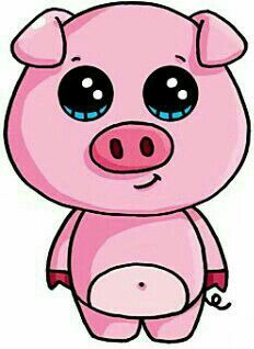The best pig from caratie and the mimis 365 Kawaii, Kawaii Pig, Cute Easy Drawings, Cute Animal Drawings, Kawaii Girl Drawings, Cartoon Drawings, Pictures To Draw, Cute Pictures, Beautiful Pictures