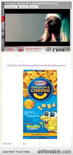 i always thought the spongebob image was hilarious on these mac and cheese boxes..now its even more funny