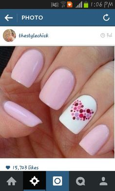 Opting for bright colours or intricate nail art isn't a must anymore. This year, nude nail designs are becoming a trend. Here are some nude nail designs. Pink Nail Art, Cute Nail Art, Gorgeous Nails, Love Nails, Color Nails, Nail Art For Kids, Romantic Nails, Valentine Nail Art, Polka Dot Nails