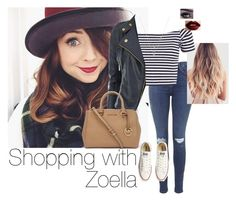 """""""Shopping with Zoella"""" by jesshorne2014 ❤ liked on Polyvore featuring Topshop, Michael Kors, Forever 21 and Converse"""