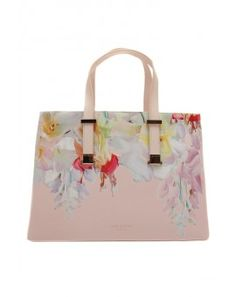 Ted Baker Haley Hanging Gardens Crosshatch Shopper Bag, Baby Pink