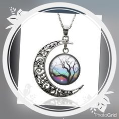 Spotted while shopping on Poshmark:  Live tree silver moon pendant necklace! #poshmark #fashion #shopping #style #Jewelry