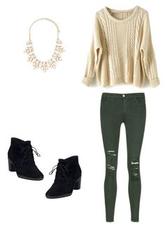"""""""Iggy has no style"""" by deliaaaaaa ❤ liked on Polyvore featuring J Brand, Clarks and Forever 21"""