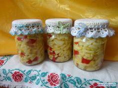 Krispie Treats, Rice Krispies, Home Canning, Pickles, Food To Make, Zucchini, Mason Jars, Pizza, Homemade