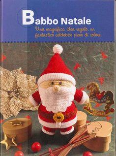 Babbo Natal Crochet- Santa Clause amigurumi crochet pattern in Italian! More Patterns Like This!