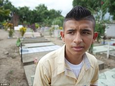 Darwin, 15, lives in San Pedro Sula, Honduras, where gang-related violence is rife in the city