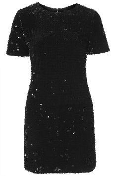 Flocked Sequin Bodycon Dress