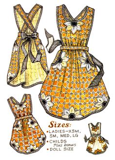 Bloomin' Apron Pattern-paisley pincushion, apron, aprons, patterns, pattern, grandma, grandma's, old-fashion, old fashioned