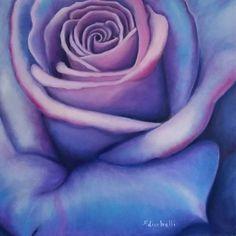 NEW !!! Dipinto originale con grande rosa blu zaffiro, dipinto moderno, arte contemporanea. Misure: 50x60 cm.  Anno:2015 Adatto per arredamento moderno, puo' essere un originale regalo di nozze !!!