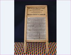 1950s DUBL HANDI Washboard, Perfect Size to Play Music, Folk Musical Instrument…