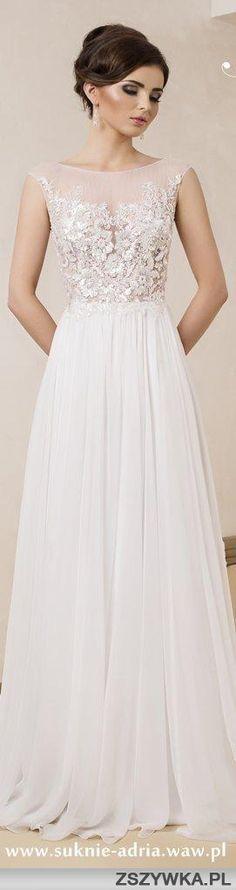 Zobacz zdjęcie to jest moja idealna suknia ślubna :* skromna ale tez z nuta elegancji. w pełnej rozdzielczości 8 repins