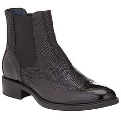 Somerset by Alice Temperley Pilton Brogue Ankle Boots, Black Patent Leather  at John Lewis   Partners f1c203be82