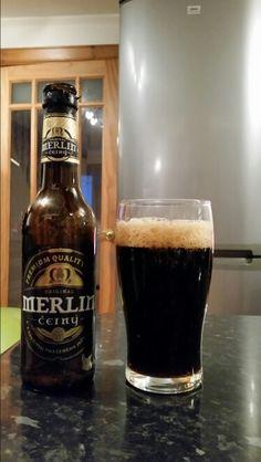 Merlin Cerny A dark Czech Lager; ABV 4.7%
