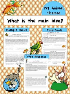 Main Idea Worksheets product from Jasons-Classroom on TeachersNotebook.com