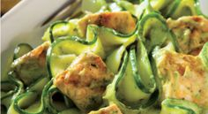 Zucchini Noodes with Creamy Avocado Sauce