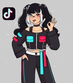 Cartoon Girl Drawing, Anime Girl Drawings, Disney Drawings, Girl Cartoon, Cute Cartoon, Arte Do Kawaii, Kawaii Art, Cute Kawaii Drawings, Cool Art Drawings