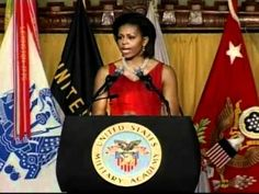 First Lady Michelle Obama speaks at West Point's Class of 2012 Graduation Banquet. United States Military Academy (USMA)