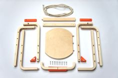 DIY Sled (hack of IKEA's frosta stool by Andreas Bhend and Samuel N. Bernier)