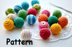 Pattern Crochet bead Nursing beads Colorful made by MiracleFromThreads via DaWanda.com